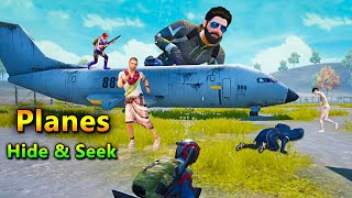 PUBG Hide and Seek in Military Base Planes | PUBG Mobile Funny Gameplay | Bollywood Gaming
