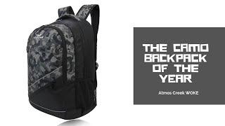 32 Ltr Printed Casual Laptop Unisex Backpack Grey AC WOKE   Atmos Creek
