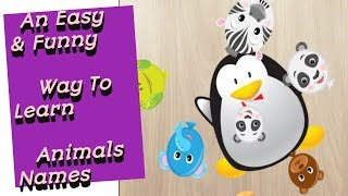 An Easy & Funny Way To Learn Animals Names For Kids | Puzzles | Super Kids Song