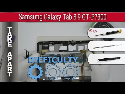 How to disassemble 📱 Samsung Galaxy Tab 8.9 GT-P7300 Take apart