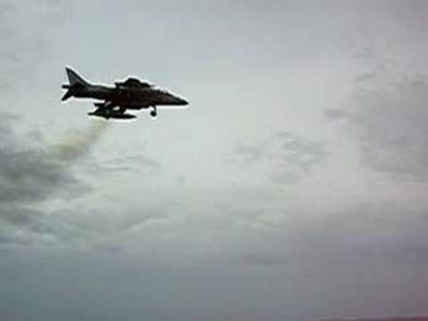 Harrier vertical takeoff on an LPD ship