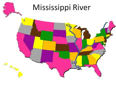 Geography - Rivers - Eastern United States