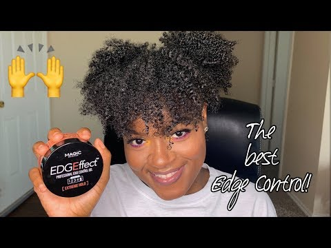 THE BEST EDGE CONTROL FOR TYPE 4 HAIR + HAIRSTYLE| NATURAL HAIR thumbnail