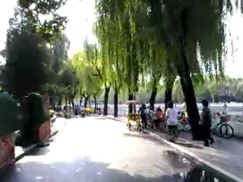 a fresh view of Houhai hutong,Beijing