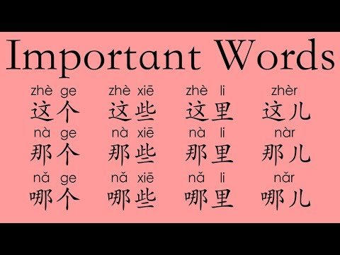 Learn Chinese Vocabulary: 这zhè—this; 那nà—that; 哪nǎ—which & MORE