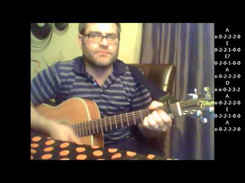 How to play Ob-La-Di, Ob-La-Da by The Beatles on acoustic guitar (Made Easy)