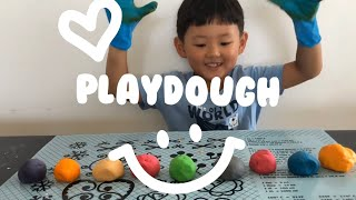 How to make Clay with flour, Playdough for kids