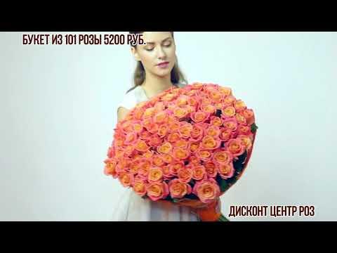 101 роза Нежно кремового цвета
