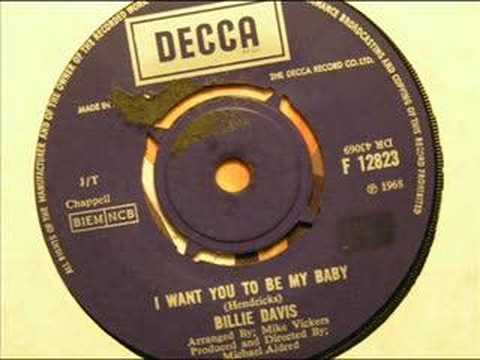 i want you to be my baby  billie davis