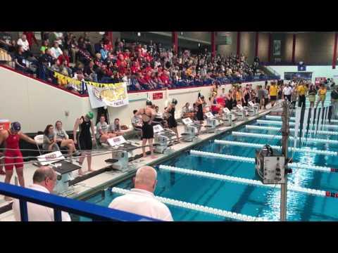 2017 Horizon League Swimming Championship Women's 50 Free Heat 1 of 2 Finals
