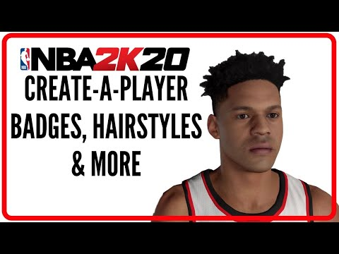 NBA 2K20 | Create A Player Suite All Badges, Ratings, Hairstyles, Etc