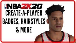 الدوري الاميركي للمحترفين 2K20 | إنشاء لاعب جناح كل شارات, التقييم, تسريحات الشعر, الخ
