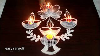 Diwali festival special rangoli & kolam designs || Deepavali muggulu