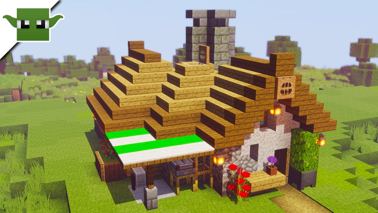 Minecraft House Tutorial Starter Diagonal House Youtube