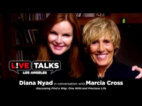 Diana Nyad in conversation with Marcia Cross