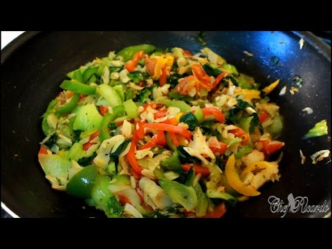 Pak Choi And Salt Fish (JAMAICA COOKING )