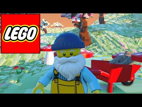 Lego Worlds - Wheelbarrow + Mushrooms (6)