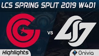 CG vs CLG Highlights LCS Spring Split 2019 W4D1 Clutch Gaming vs Counter Logic Gaming by Onivia