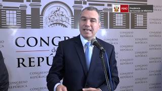 Declaraciones del Presidente del Consejo de Ministros, Salvador del Solar