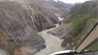 Turnback Canyon Helicopter Portage - Alsek River - Ride of the Valkyries