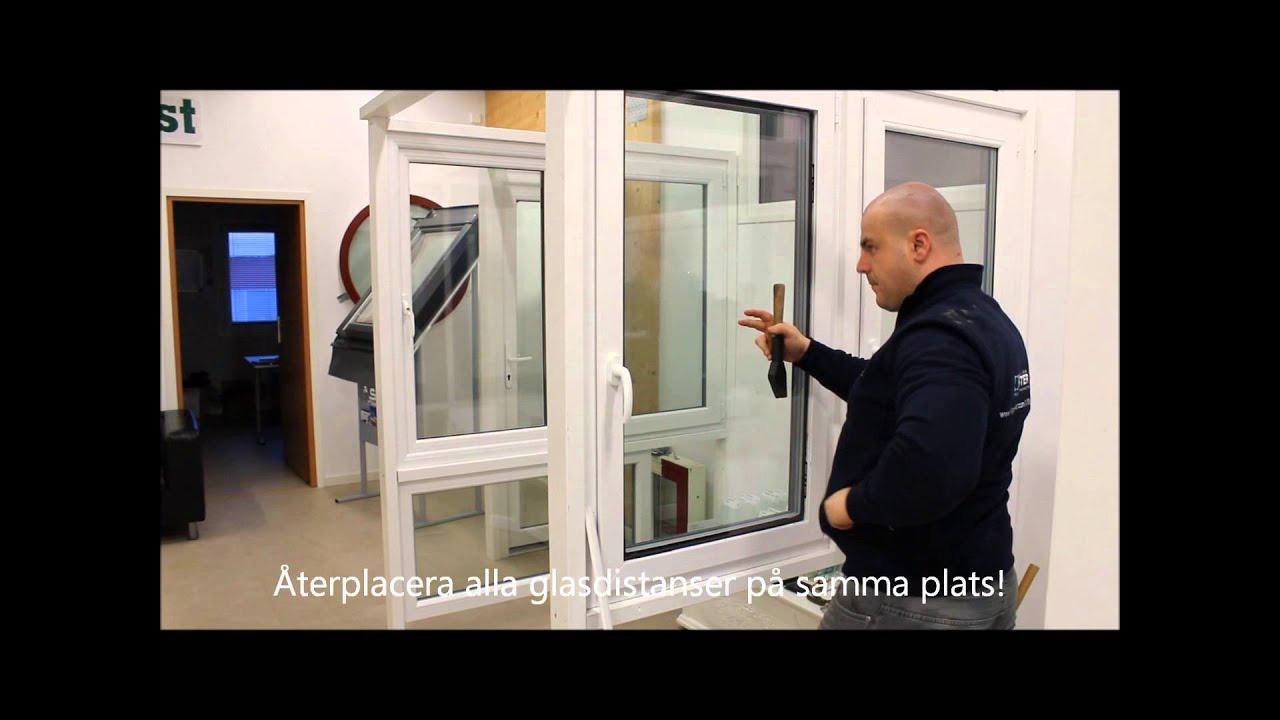 Hur byter man glaskassett i PVC-fönster - YouTube : 3 glasfönster : Fönster
