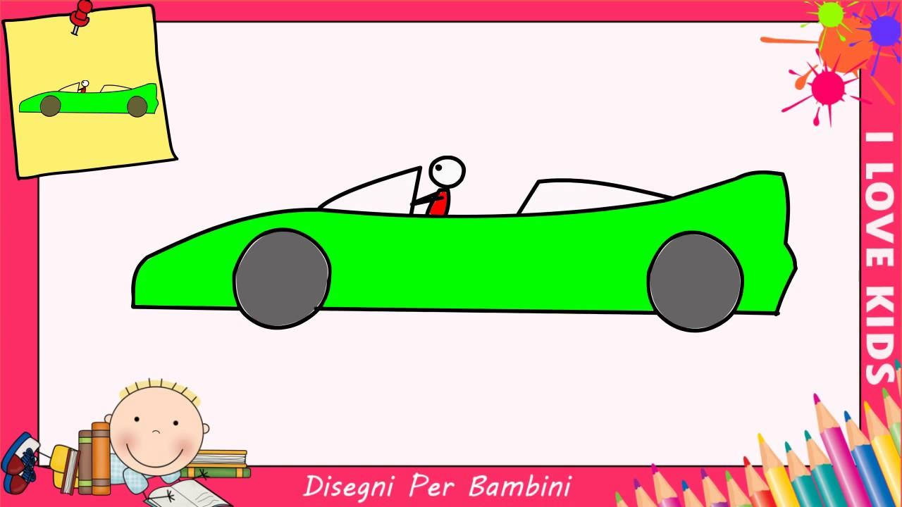 Come disegnare una macchina da corsa facile passo per for Coniglio disegno per bambini