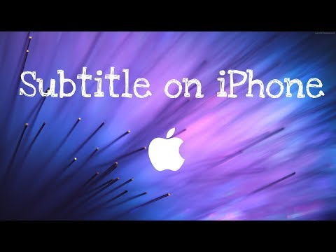 Easiest way to use subtitle on iPhone!!!