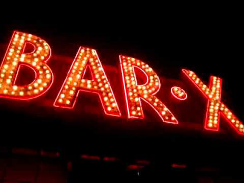 The famous Bar-X sign in Salt Lake City, Utah - May 13, 2011 10:52 PM