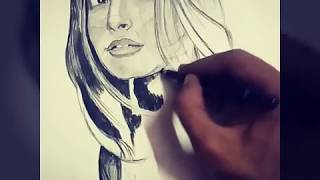 Sonam kapoor - DRAWING with pencil on art paper