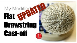 LOOM KNITTING Cast-off Flat Drawstring for Hats and Toys on Round Loom