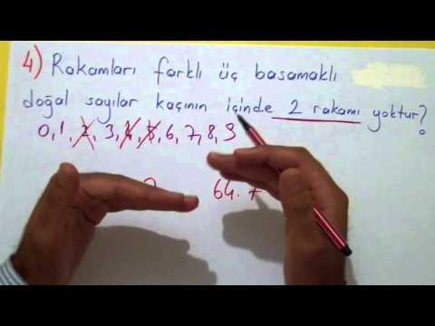 Permütasyon Soru Çözümü Şenol Hoca Matematik