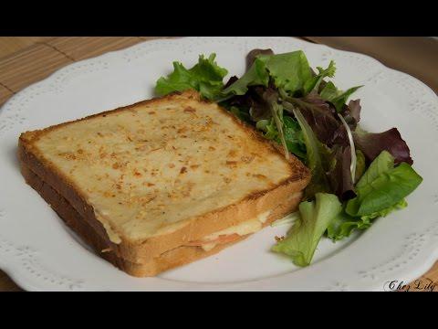 """✩-croque-monsieur-""""jambon""""-et-béchamel-(vegan)-✩"""