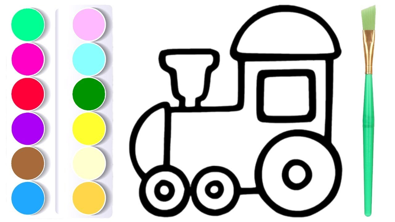 How To Draw Kids Toy Train Coloring Pages For Babies #1