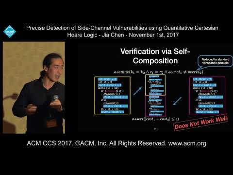 ACM CCS 2017 - Precise Detection of Side-Channel Vulnerabilities [...] - Jia Chen