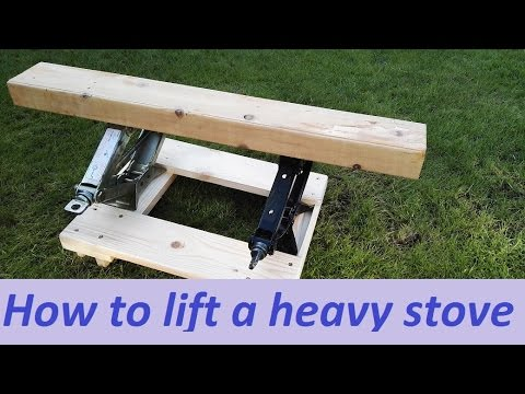 how to lift a heavy stove