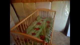 Антошка - детская кроватка (бук)