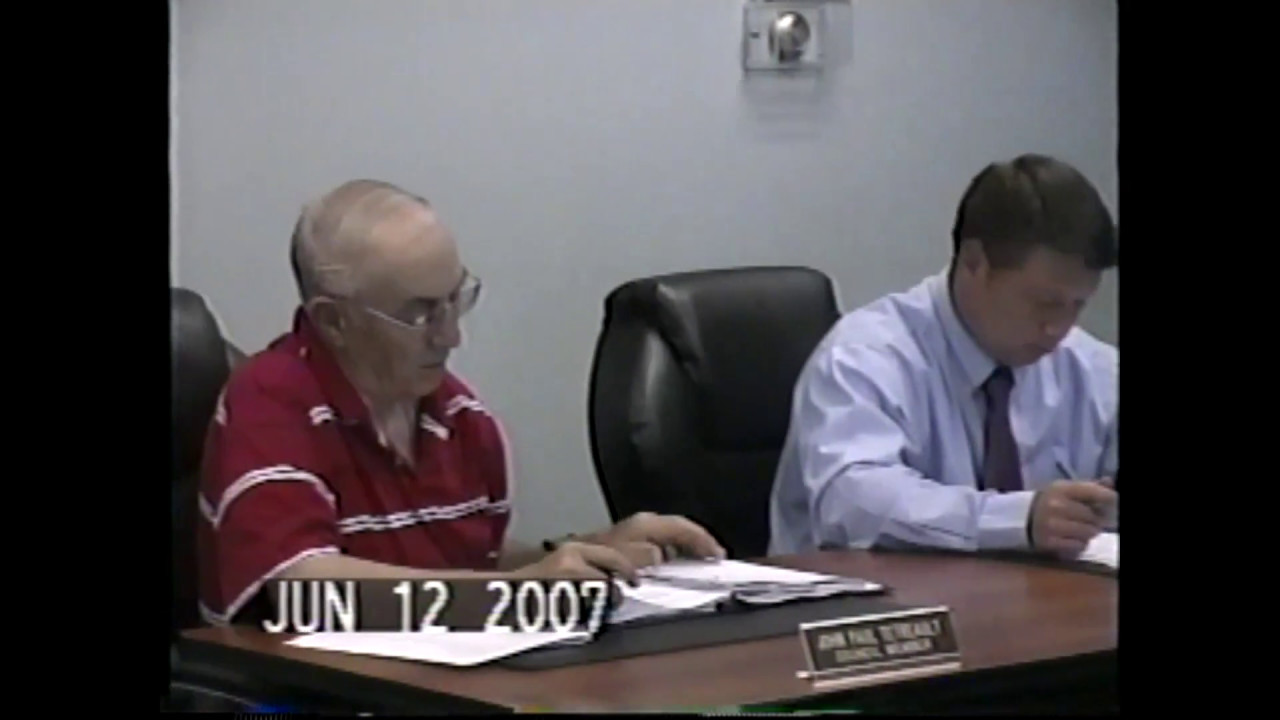 Champlain Town Board Meeting  6-12-07