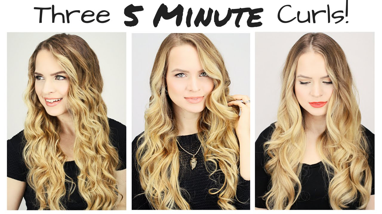 How to curl my own hair with straighteners