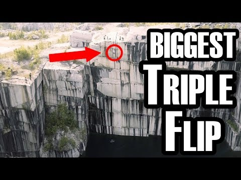 MASSIVE TRIPLE FRONTFLIP | 112 FT VERMONT CLIFF JUMPING | 4K