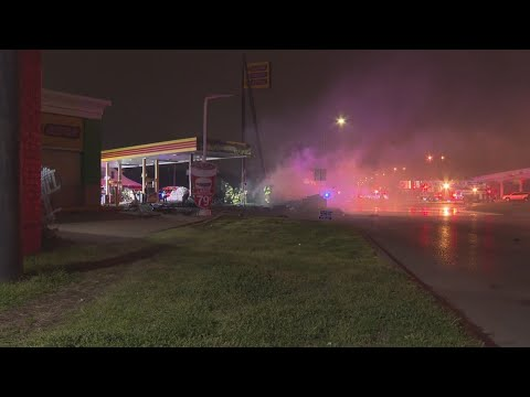Trucker loses life in fiery gas station crash