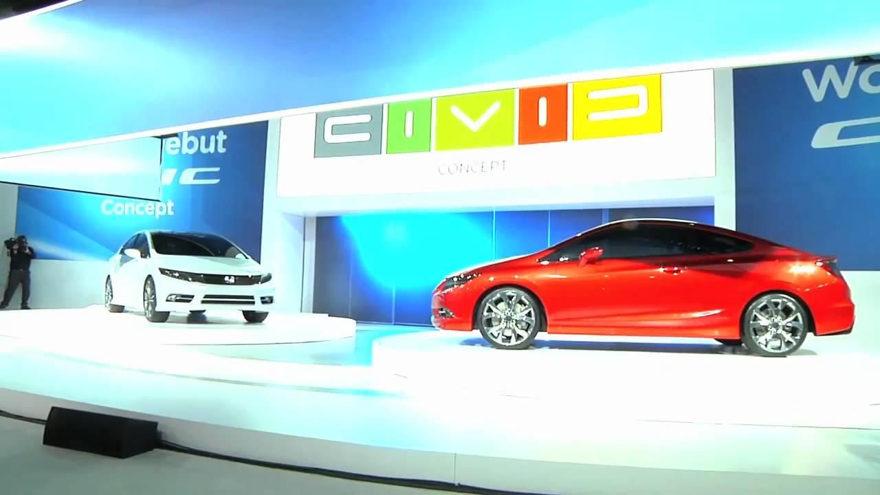 2012 honda civic concept - detroit auto show - leftlane news - youtube