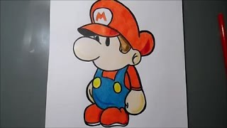 Speed Drawing: Baby Mario