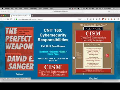CNIT 160: 1. Becoming A CISM And Cyberwar