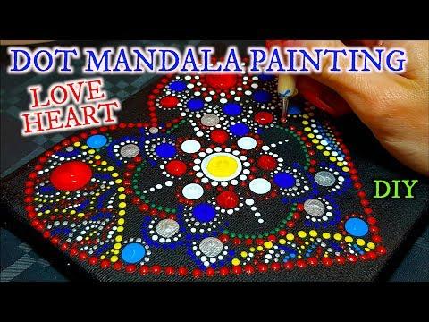 RELAXING DOT PAINTING MANDALA LOVE HEART DIY MEDITATION MUSIC