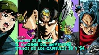 zamasu es black goku? títulos de los capítulos 53y54 el supremo kaiosama del universo 10 es zamasu?