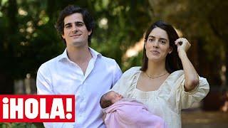 Los duques de Huéscar abandonan el hospital con su hija recién nacida