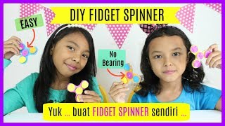 BEST DIY FIDGET SPINNER ♥ NO BEARING WITH CARDBOARD EASY FOR KIDS