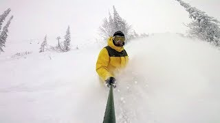 First Powder day at Sheregesh