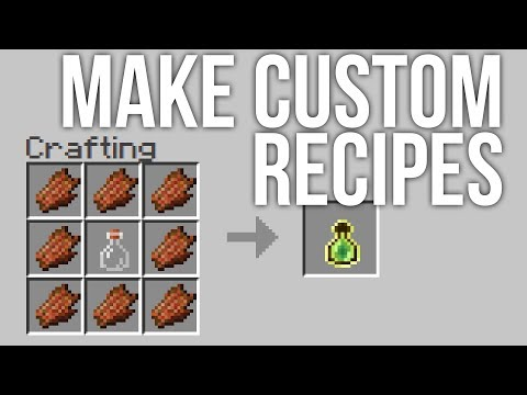 How To Make Custom Recipes In Minecraft Snapshot 17w48a