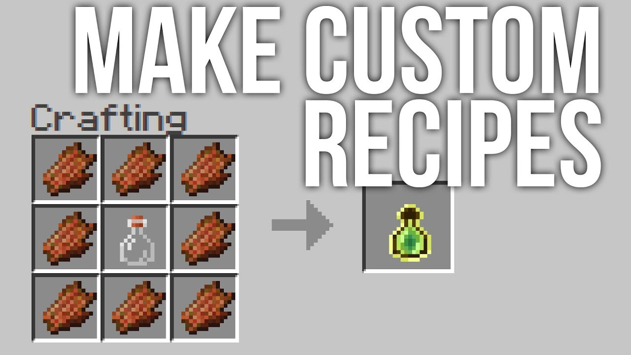 How to Make Custom Recipes in Minecraft Snapshot 17w48a YouTube